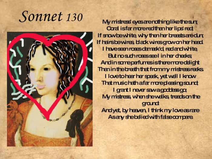 essay on shakespeare sonnet 130